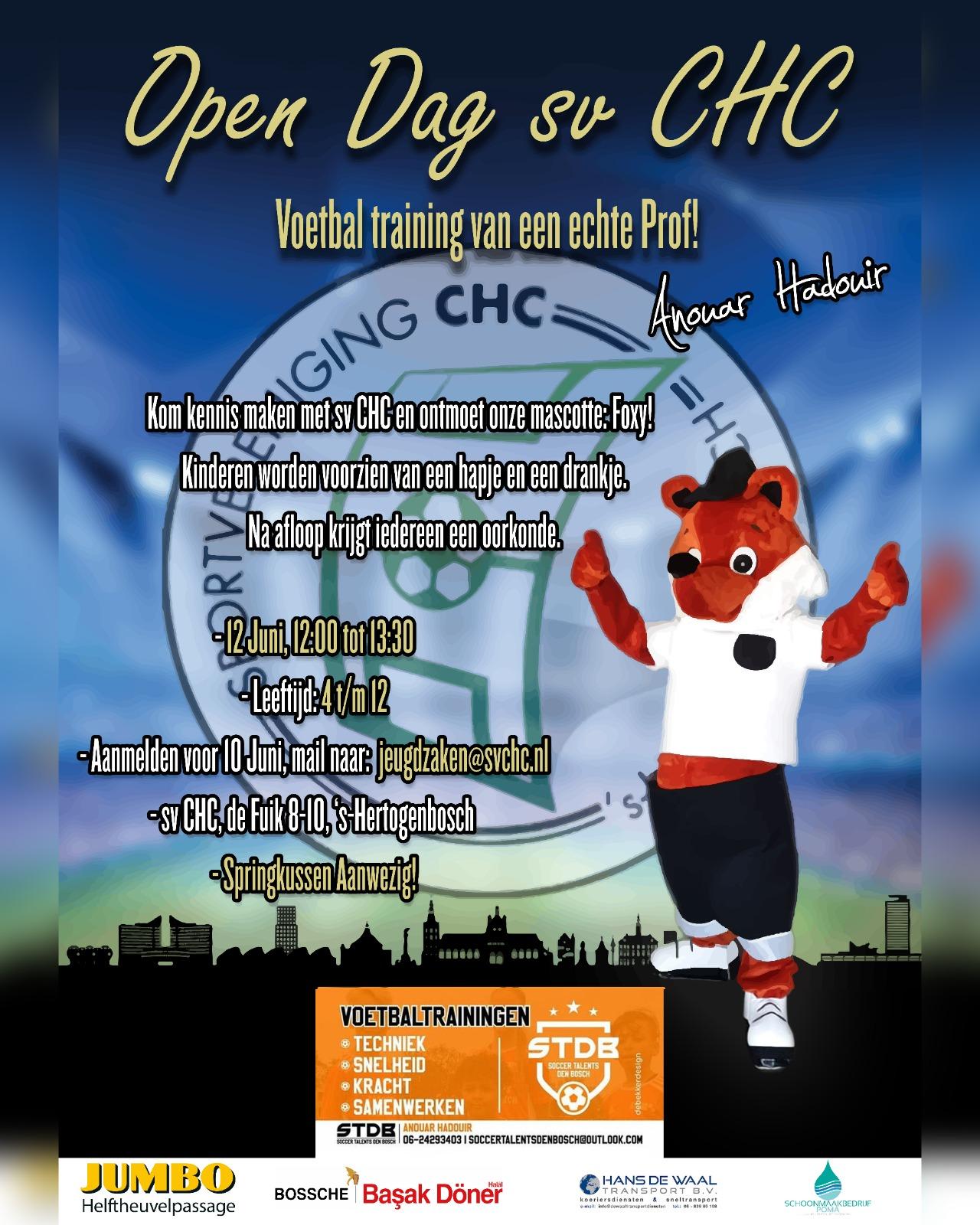 Open Dag sv CHC 12 juni 2021!!
